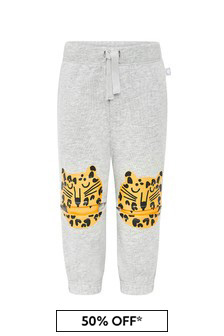 Stella McCartney Kids Baby Boys Grey Cotton Joggers