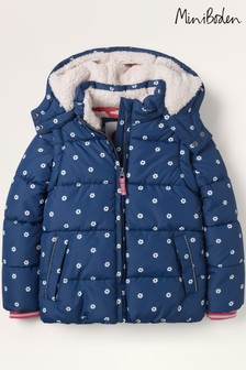 Mini Boden Navy Cosy 2-In-1 Padded Jacket