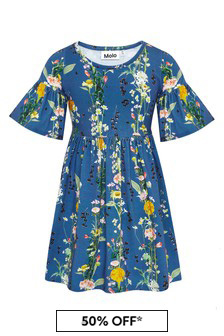 Girls Blue Cotton Dress