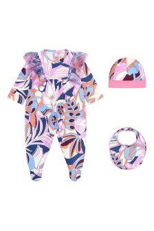 Emilio Pucci Baby Girls Purple Cotton Gift Set
