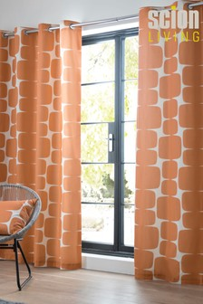Scion Lohko Geo Lined Eyelet Curtains