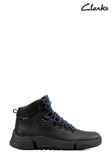 Clarks Black Leather TriPathDay GTX Boots