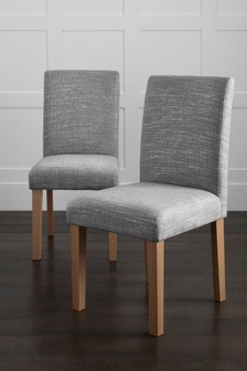 Set Of 2 Moda II Dining Chairs With Mid Legs