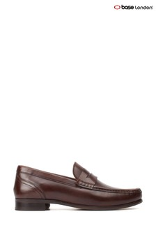 Base London® Brown Cassio Washed Slip-On Shoes