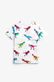 Digital Dinosaur Print T-Shirt (3-14yrs)
