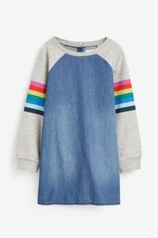 Raglan Sleeve Rainbow Dress (3-16yrs)