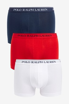 Polo Ralph Lauren® Stretch Cotton Trunks Three Pack