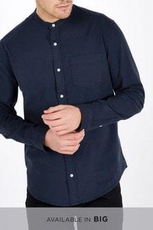 Bluzka z długim rękawem i guzikami pod szyją Oxford