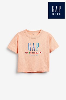 Gap Peach Logo T-Shirt