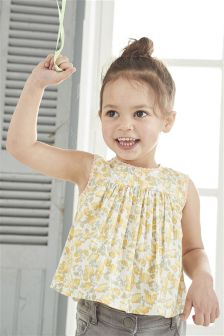 Lemon Print Dress (3mths-6yrs)