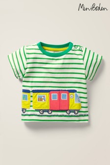 Mini Boden Green Vehicle Adventures T-Shirt