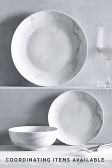 Marble Effect 12 Piece Dinner Set