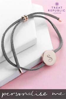 Personalised Always With You Initial Bracelet by Treat Republic