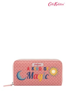 Cath Kidston® Shadow Flowers Placement Continental Zip Wallet