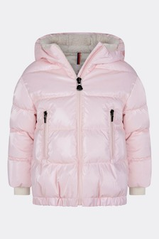 Girls Pink Down Padded Clentra Jacket