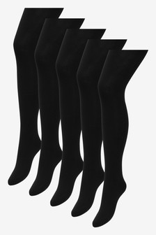 Basic Opaque 60 Denier Tights Five Pack