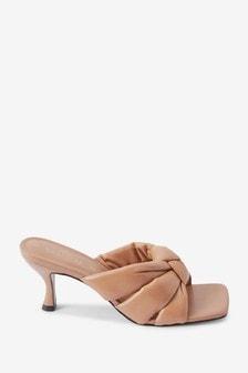 Signature Leather Padded Mules