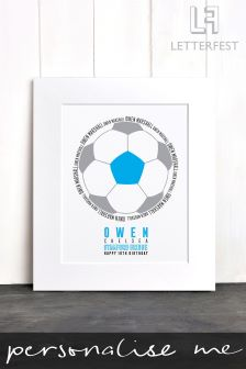 Personalised Football Print by Letterfest