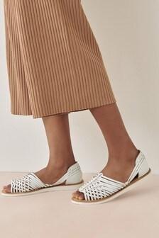 Leather EVA Weave Sandals