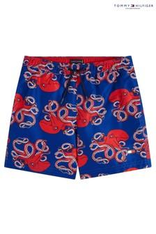 Tommy Hilfiger Blue Octopus Print Medium Drawstring Trunks
