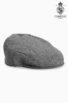 Christys London Grey Flat Cap