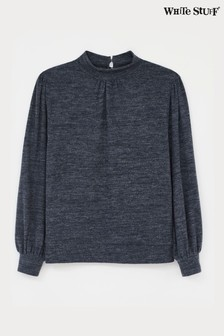 White Stuff Grey Cosy Jersey Top