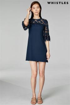 Whistles Navy Regina Dress
