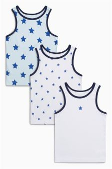 Star Vests Three Pack (1.5-8yrs)
