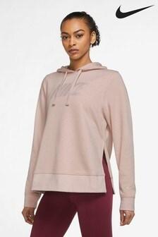 Nike Pink Metallic Dri-FIT Training Hoodie