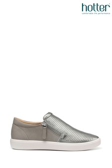 Hotter Daisy Slip-On/Zip Deck Shoes