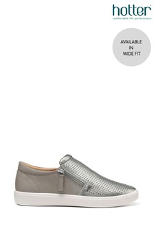 Hotter Daisy Wide Fit Slip-On/Zip Deck Shoes