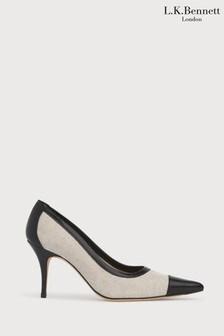 L.K.Bennett Multi Felipa Canvas Court Shoes