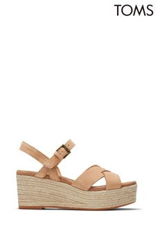 TOMS Willow Honey Suede Wedges