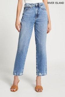 River Island Medium High Rise Straight Kendra Jeans