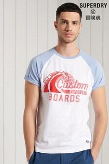 Superdry Organic Cotton Cali Surf Graphic Baseball T-Shirt
