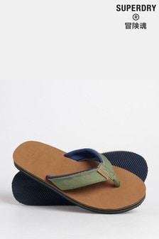 Superdry Surf Leather Flip Flops