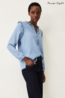 Phase Eight Blue Eadie Chambray Shirt