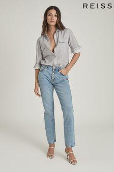 Reiss Mimi Cotton Twin Pocket Shirt