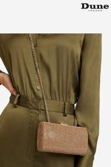 Dune London Metallic Bryannie Crystal Embellished Clutch Bag