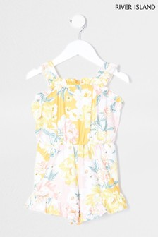 River Island Pink Floral Holiday Shop Playsuit