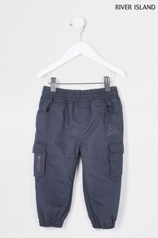 River Island Grey Ultimate Cargo Trousers
