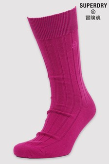 Superdry Organic Cotton Casual Rib Socks