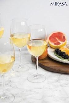 Set of 4 Mikasa Julie White Wine Glasses