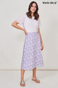 White Stuff Plum Bella Reversible Wrap Skirt