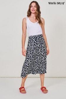 White Stuff White Ashley Linen Skirt