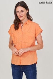 White Stuff Orange Elmer Organic Shirt