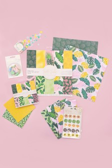 Set of 6 Crafter's Companion Tropical Paper Craft Kit