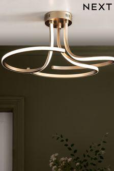 Champagne Sculptural LED Flush Ceiling Light