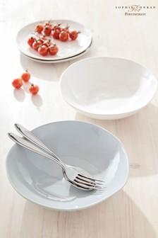 Set of 4 Sophie Conran Arbor Grey Pasta Bowls