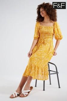 F&F Yellow Dress